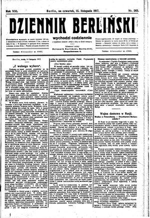 Dziennik Berliński vom 15.11.1917