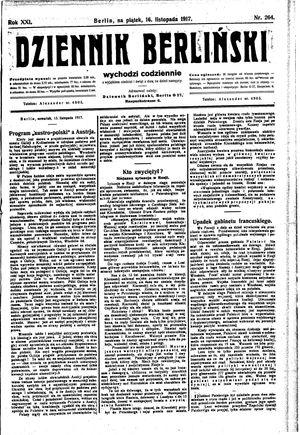 Dziennik Berliński vom 16.11.1917