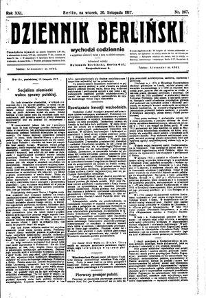Dziennik Berliński vom 20.11.1917