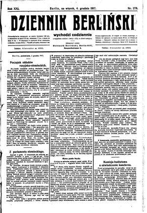 Dziennik Berliński vom 04.12.1917