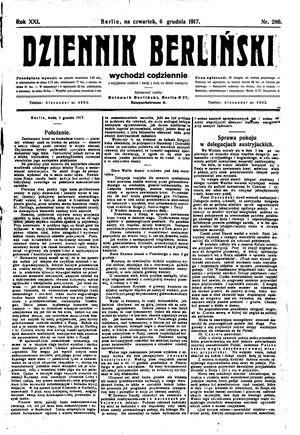 Dziennik Berliński vom 06.12.1917