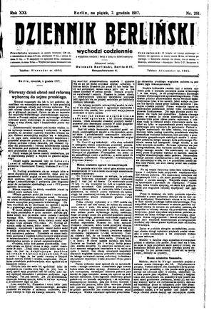 Dziennik Berliński vom 07.12.1917