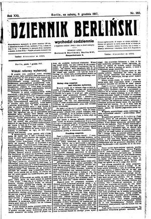 Dziennik Berliński vom 08.12.1917