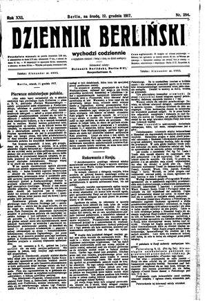 Dziennik Berliński vom 12.12.1917