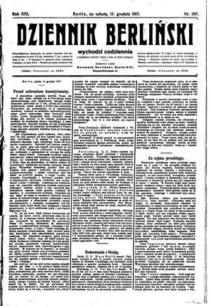 Dziennik Berliński vom 15.12.1917