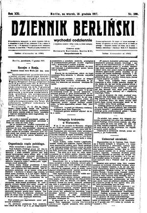 Dziennik Berliński vom 18.12.1917