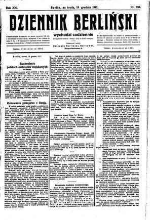 Dziennik Berliński on Dec 19, 1917
