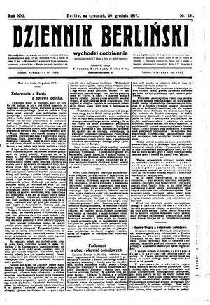 Dziennik Berliński vom 20.12.1917