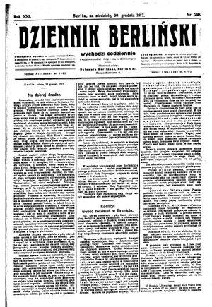 Dziennik Berliński vom 30.12.1917