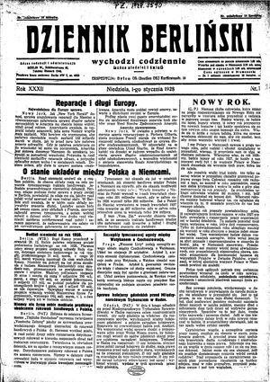 Dziennik Berliński vom 01.01.1928