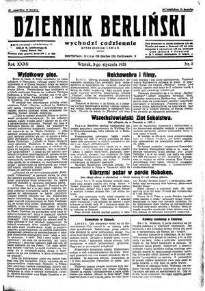 Dziennik Berliński vom 03.01.1928