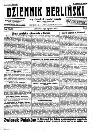 Dziennik Berliński vom 05.01.1928