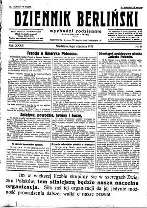 Dziennik Berliński vom 08.01.1928