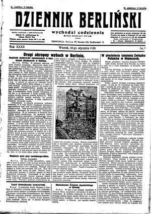 Dziennik Berliński vom 10.01.1928