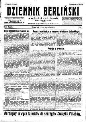 Dziennik Berliński on Jan 12, 1928
