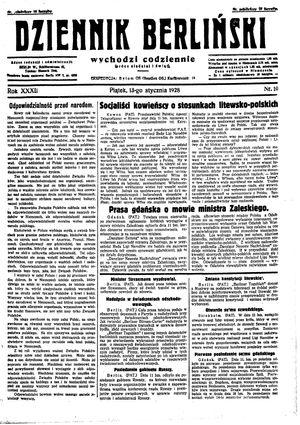 Dziennik Berliński vom 13.01.1928