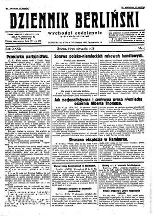 Dziennik Berliński vom 14.01.1928