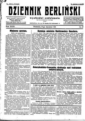 Dziennik Berliński on Jan 15, 1928