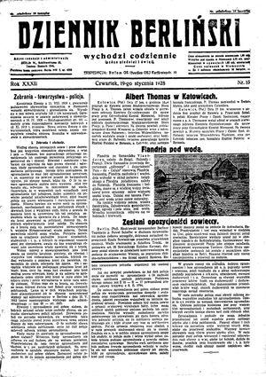 Dziennik Berliński vom 19.01.1928