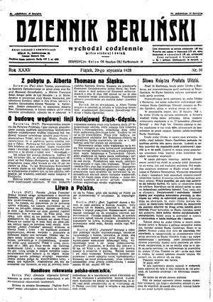 Dziennik Berliński vom 20.01.1928