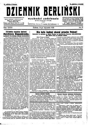 Dziennik Berliński vom 21.01.1928