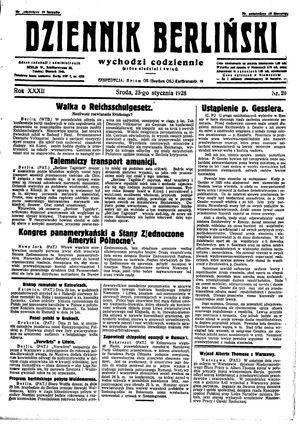 Dziennik Berliński vom 25.01.1928