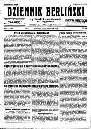 Dziennik Berliński vom 29.01.1928