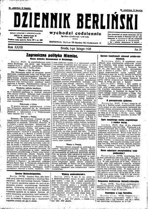Dziennik Berliński vom 01.02.1928