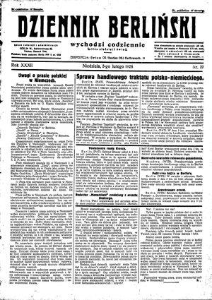 Dziennik Berliński vom 05.02.1928