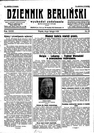 Dziennik Berliński vom 10.02.1928