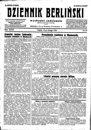 Dziennik Berliński vom 17.02.1928