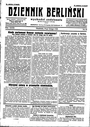 Dziennik Berliński vom 19.02.1928