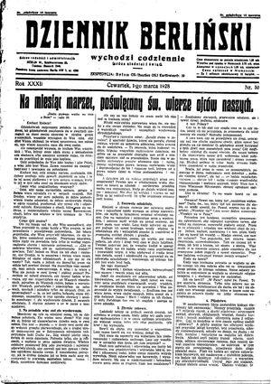 Dziennik Berliński on Mar 1, 1928