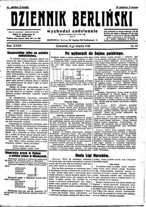 Dziennik Berliński on Mar 8, 1928