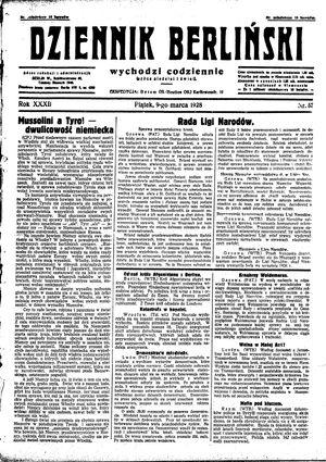 Dziennik Berliński vom 09.03.1928