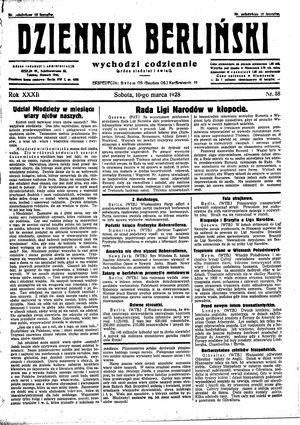 Dziennik Berliński vom 10.03.1928