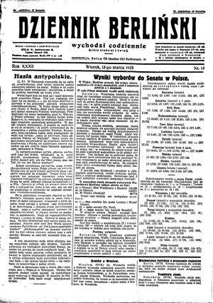 Dziennik Berliński vom 13.03.1928