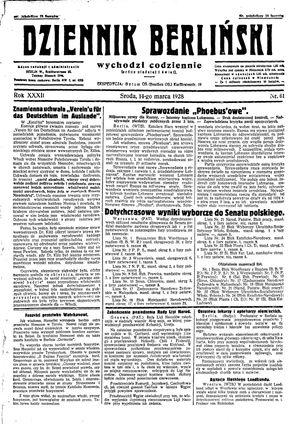 Dziennik Berliński vom 14.03.1928