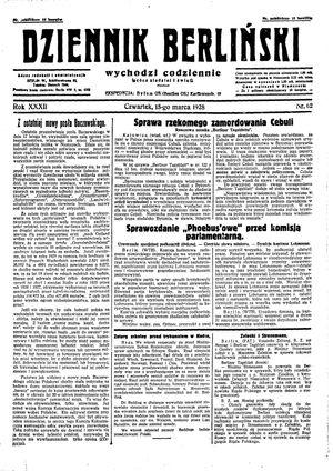 Dziennik Berliński vom 15.03.1928