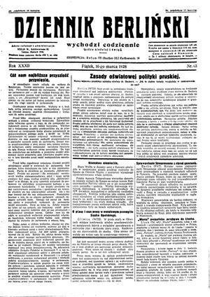 Dziennik Berliński vom 16.03.1928