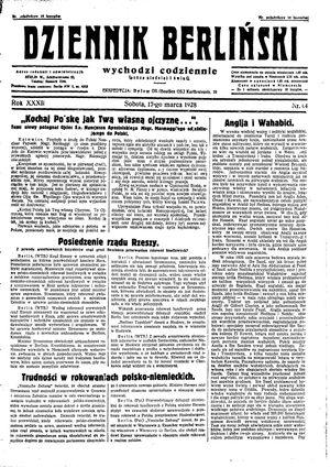 Dziennik Berliński vom 17.03.1928