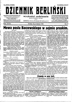 Dziennik Berliński vom 21.03.1928