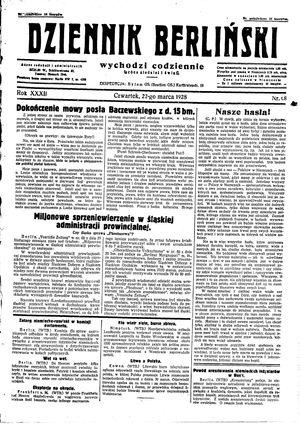 Dziennik Berliński vom 22.03.1928
