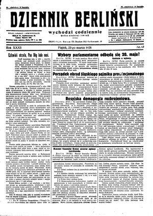 Dziennik Berliński vom 23.03.1928