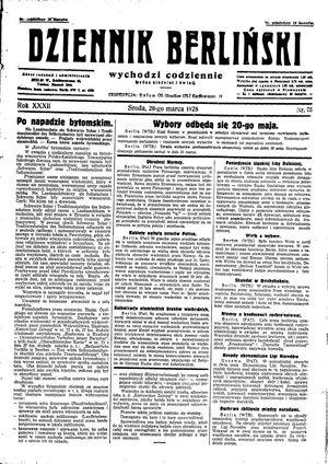 Dziennik Berliński vom 28.03.1928