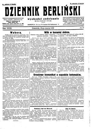 Dziennik Berliński vom 29.03.1928
