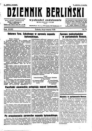 Dziennik Berliński vom 31.03.1928
