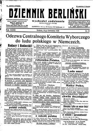 Dziennik Berliński vom 14.04.1928