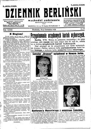 Dziennik Berliński vom 15.04.1928