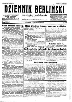 Dziennik Berliński vom 22.04.1928